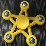 yellow five star steel ball hand spinner