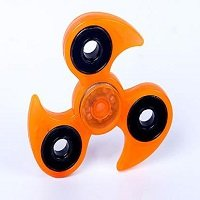 yellow luminous hand spinner
