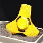 yellow tri hand spinner fidget